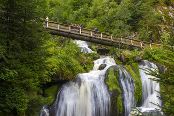 Triberg Falls in Black Forest region, Germany