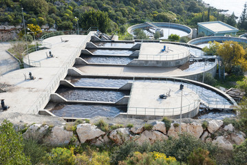 Water treatment plant near the town of Kas, Antalya province