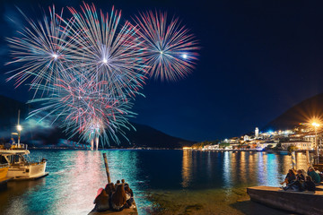 The fireworks at Lake Garda