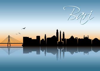 Bari skyline - Italy - ribbon banner
