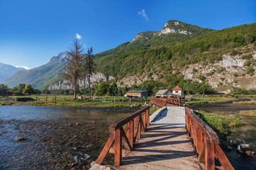 Famous Ali Pasha Springs  in Gusinje, Montenegro