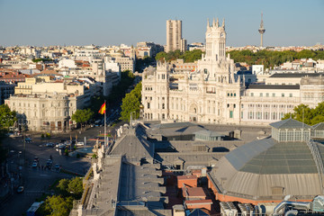 Central Madrid next to Plaza de Cibeles and the Communications Palace
