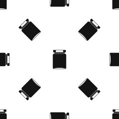 Jar pattern seamless black