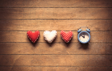 Heart shape toys and alarm clock