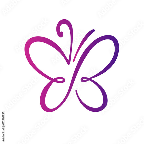 quotbutterfly logo templatevector illustrationquot stock image