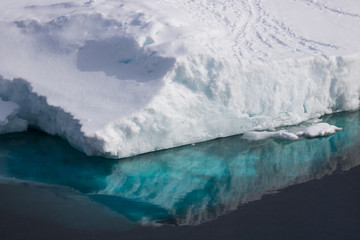 Reflection Ice berg Antarctica