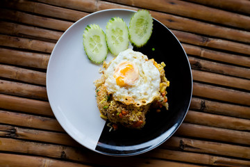 Thai fried rice with egg