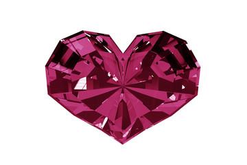 Diamond heart with an alpha channel