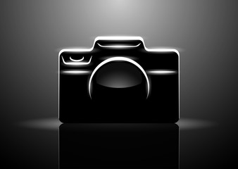 Vector illustration of professional digital camera