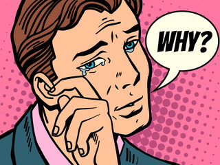 Why man wipes tears