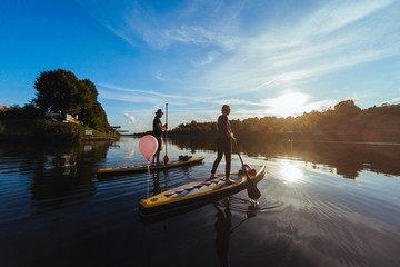 Stand Up Paddle Boarding, Heilbronn, Germany