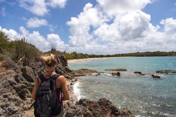 Caraïbes, Martinique: randonnée le long de la côte