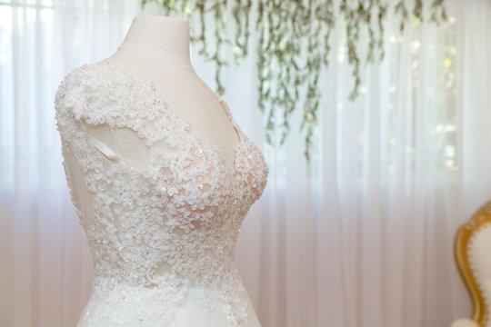 Bride dress wedding day
