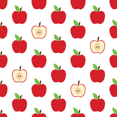 pattern with whole apple and cut