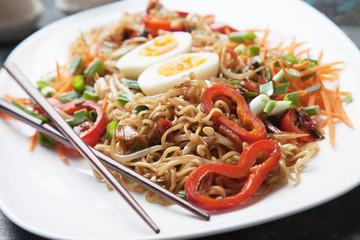 Fried asian instan noodles