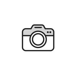 Photo camera icon line