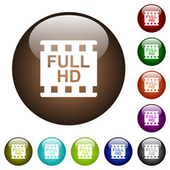 Full HD movie format color glass buttons