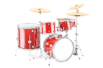 Drum kit, 3D rendering