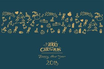Kartka świąteczna - Boże Narodzenie 2018