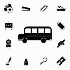 school bus icon. Set of education icons