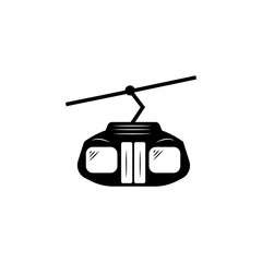 Funicular vector icon