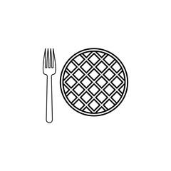 pie with folk line icon