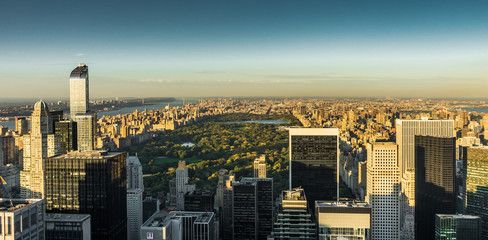 New York Skyline Manhatten Cityscape Central Park from Top of th