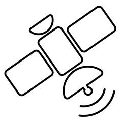 satellite icon on white background