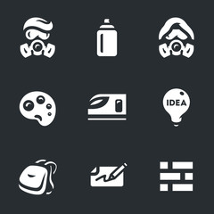 Vector Set of Street Painting Icons.
