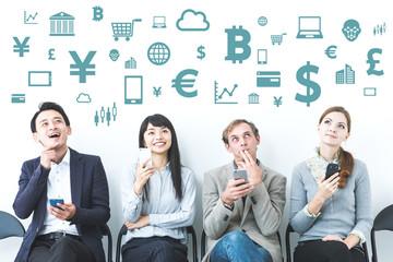 FinTech(Financial Technology) concept.