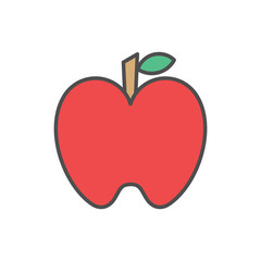 Aplle icons fruit vector design logo illustration vegetable