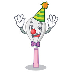 Clown whisk character cartoon style