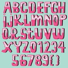 hand drawn vintage alphabet set