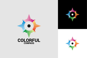 Colorful CompassLogo Template Design