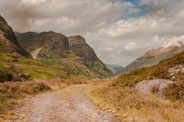Historical Drovers' Road Glencoe, Scotland