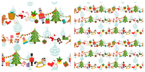 Christmas or new year elements seamless pattern.