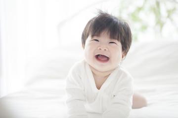 A cute baby.