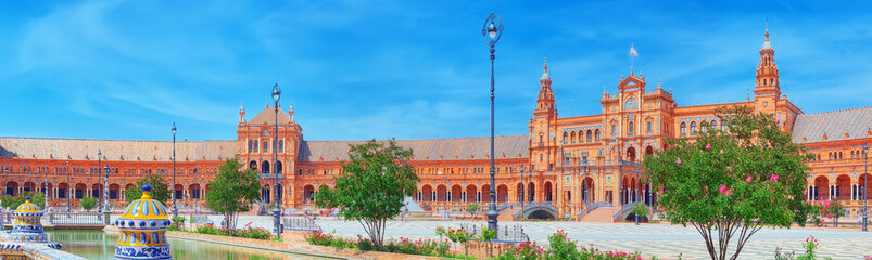 Square of the Spain is a Square in the Maria Luisa Park, in Seville, Spain, built in 1928 for the Ibero-American Exposition.