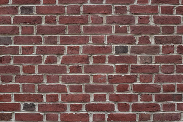 Red brick wall backround