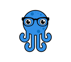 octopus logo icon mascot
