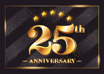 Th anniversary gold medal royalty free vector image