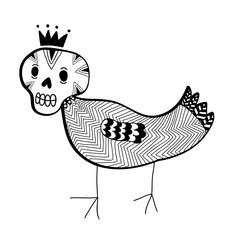 Strange doodle monster.
