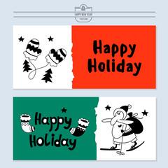 Christmas illustration with Santa Claus