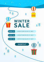 Happy Winter and Christmas illustrations