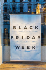 Schild Black Frieda Week
