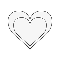 Heart and love symbol icon vector illustration graphic design
