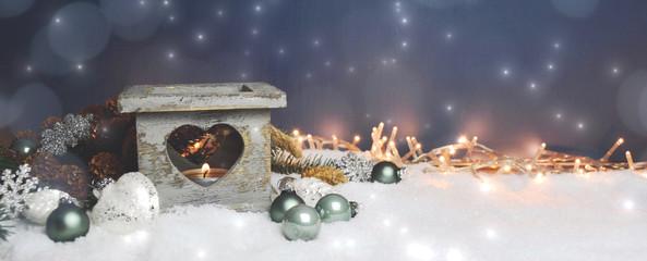 Weihnachten Hintergrund Windlicht