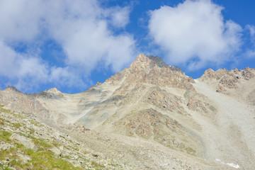 Mountains landscape near peak Konev