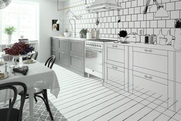 Modern Kitchen Arrangement (illustration)