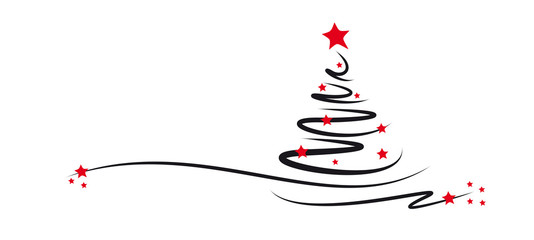 Weihnachtsbaum Mit Roten Sternen Stockfotos Und Lizenzfreie